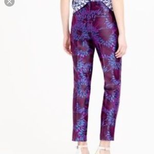J Crew Garden Pant in Midnight Floral Jacquard